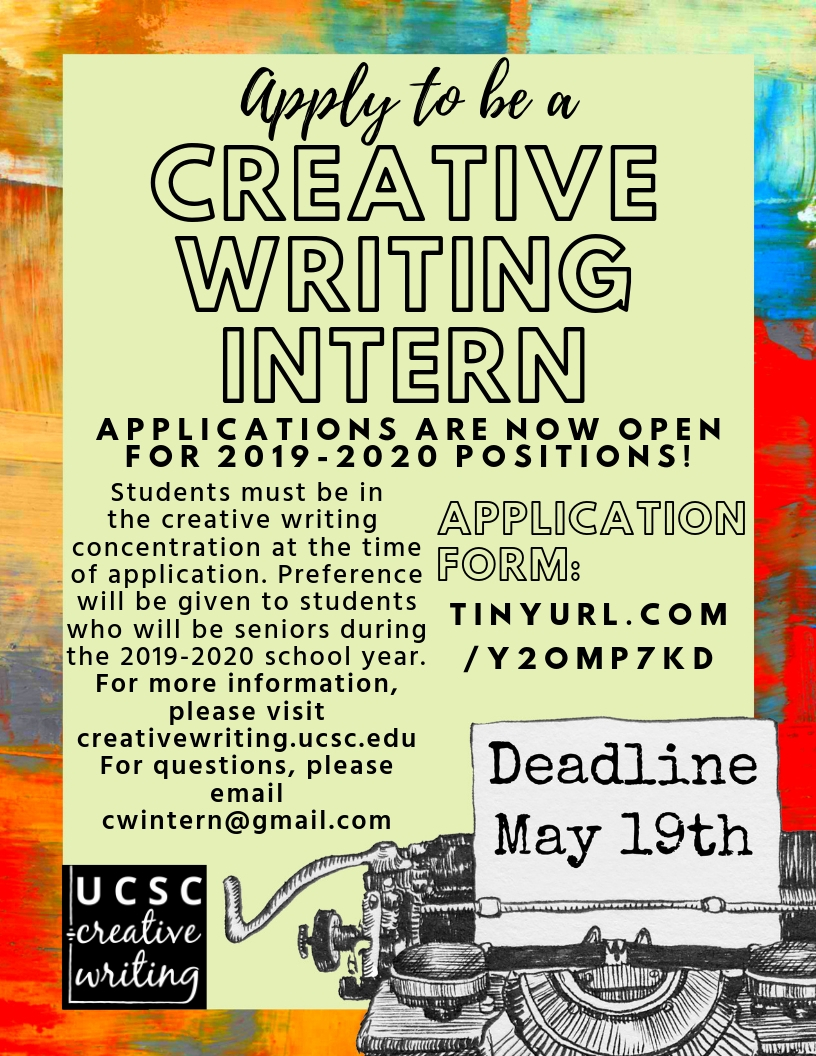 Ucsc Calendar 2020.Apply To Be A Creative Writing Intern